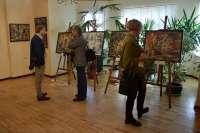Dailininko Adomo Galdiko parodos atidarymas Rietavo Oginskių kultūros istorijos muziejuje